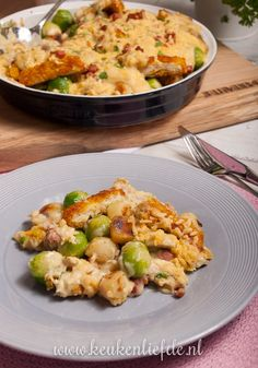 Brussels sprouts casserole with chicken and mushroom sauce - Kitchen ♥ Love - I really enjoy making casseroles and I already have many to my name. Good Food, Yummy Food, Healthy Summer Recipes, Comfort Food, Breakfast Lunch Dinner, Tasty Dishes, No Cook Meals, Food Hacks, Food Tips