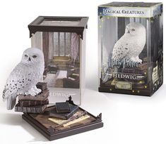"Promising review: ""This beautiful figurine of Hedwig is made with wonderful detail. She almost looks like a real owl! I love that she isn't on a random stand, but perched on a stack of school books guarding Harry's wand and the Marauder's Map. Hopefully, she'll start delivering my mail now!"" —Anne Get it from Amazon for $29.99."