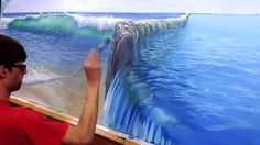 Video Tutorial: How To Paint Pool Water - @MuralJoe #PaintingTechniques