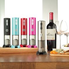 Take the whine out of uncorking wine. #FoodNetwork #Kohls I want the pink one!!