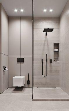 FLAT IN DNIPRO on Behance Washroom Design, Toilet Design, Bathroom Design Luxury, Bathroom Layout, Modern Bathroom Design, Bathroom Ideas, Small Bathroom Interior, Minimalist Bathroom Design, Modern Luxury Bedroom