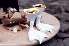 Crème de pâtisson aux graines de potiron caramélisées