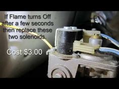 ▶ Gas Dryer Won't Heat - Easy Repair - YouTube for other dryer problems.  Some like mine have a larger part with these attached (gas valve assembly) about $110.00.  Still cheaper than calling someone out to fix it ;)