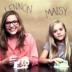 These girls are 2 amazing singers named Lennon and Maisy, both sisters. I already knew they were on ABC's Nashville as sisters, but I didn't know they were REALLY sisters and they really sang! Check out their songs on YouTube!