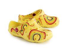 Schu'zz Sabot Globule Imprimé Rainbow jaune enfant