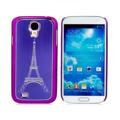 Eiffel Tower Print Plated Plastic Case for Samsung Galaxy S4 SIV I9500 - Purple US$4.99