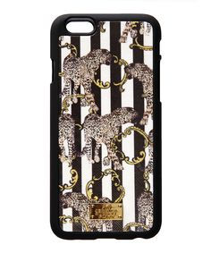 AW16 TRENDWATCH Leather covered striped iPhone6 case with silicone surround and gold bar.  www.jessicarussellflint.co.uk