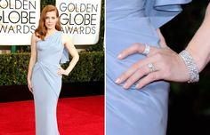 06 - 2015 - Celebridades que brillan: las joyas de los Globos de Oro - AMY ADAMS Combinar su vestido azul pálido con joyería de Tiffany le sirvió a Adams para encarnar la elegancia y el equilibrio.
