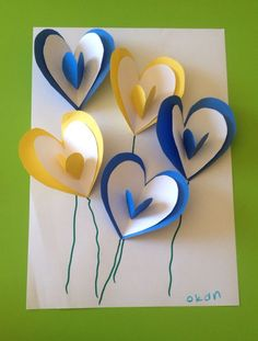 carte ballons pop up Valentines Cards with Heart Shapes Mother's Day cards Related Post Valentines Day Heart Fingerprint Tree Craft for Ki. Kids Crafts, Spring Crafts For Kids, Preschool Crafts, Art For Kids, Diy And Crafts, Paper Crafts, Easy Crafts, Mothers Day Crafts, Valentine Day Crafts