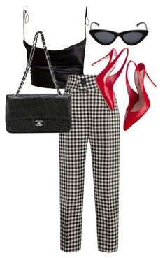 A fashion look from January 2018 featuring wool pants, chanel handbags and Le Specs. Browse and shop related looks. Trendy Summer Outfits, Girly Outfits, Chic Outfits, Fashion Outfits, Rocker Chic Outfit, Outfit Combinations, Preppy Style, Polyvore Outfits, Aesthetic Clothes