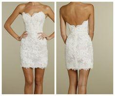 Short White Lace Reception Dress by XOXOdress on Etsy, $89.00