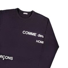 "710887a6796779 PlugMePlease on Instagram  ""vintage cdg 2001 split logo sweatshirt  available instore tomorrow. size M for 3250 sek."""