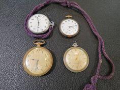 Pocket Watch ウォルサム CYMA シチズン手巻懐中時計4個 アンティーク中古 Antique ¥1510yen 〆05月26日