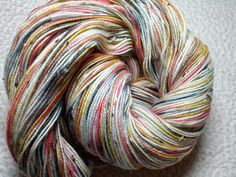 Okami in Kells sock yarn, 85% superwash merino, 15% nylon
