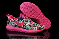new styles 13eee 5ee60 Nike Roshe Run 2 Flores de encargo Rojo Verde Negro - Zapatillas para Mujer  Nike Mujer