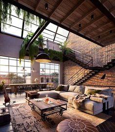 Via Dream home Design: Binyan Studios - Photo: Kay & Burton. - Via Dream home Design: Binyan Studios – Photo: Kay & Burton…- - Industrial Interior Design, Industrial House, Urban Interior Design, Contemporary Interior, Urban Industrial, Luxury Interior, Urban Design, Luxury Loft, Industrial Apartment