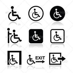 Handicap Icons - Health/Medicine Conceptual