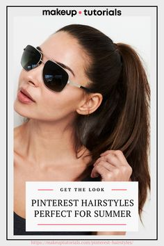 Tie your hair up and put your glasses on this summer. This and 18 more Pinterest hairstyles you need to copy this summer. No Heat Hairstyles, Classic Hairstyles, Retro Hairstyles, Summer Hairstyles, Fishtail Ponytail, Half Ponytail, Twisted Bangs, Pinterest Hairstyles, Headbands For Short Hair
