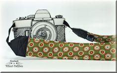 Kameragurt  Kameraband grün bunt von BlinniFashion auf Etsy, €29.90