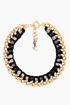 Gold and black chain. #louis vuitton