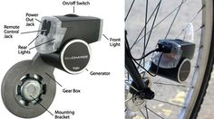 USB Charging Bike Dynamo Harnesses Pedal Power