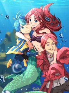 """Disney convertido en anime 7/7 animación de """"la sirenita"""""""