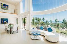 Koh Samui Holiday Villa #kohsamui #samui #thailand #asianluxuryvillas _____________________ This villa feels amazingly airy with its huge panorama windows