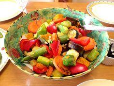 かぼちゃが甘くてホクホク☆ アスパラガスが超太いけど柔らか♪ - 3件のもぐもぐ - かぼちゃの温野菜サラダ by snowwhite1122