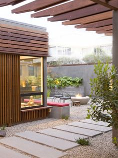 Contemporary Spaces Concrete Poured Stepping Stones Patio Design, Pictures, Remodel, Decor and Ideas - page 3