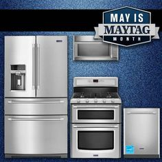 May is Maytag month and you can save up to $750 on select Maytag appliances. Click this post, browse our selection of Laundry & Kitchen Appliances, and purchase for your rebate!  #Maytag #appliances #appliance #sale #deals #laundry #kitchen #refrigerator #dishwasher #oven #microwave #washer #dryer