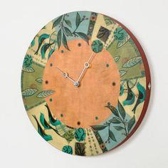 Round Wall Clock in New Capri Spice