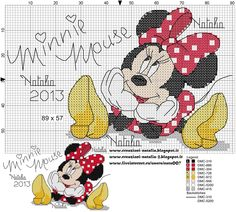 mini mouse cross stitch pattern | Minnie Mouse Cross Stitch Patterns