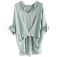 Chicwish Casual Twist Smock Top in Lavender (47 CAD) ❤ liked on Polyvore featuring tops, blouses, shirts, grey, lining shirts, gray blouse, cotton blouses, gray shirt and light purple shirt
