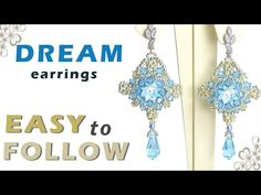 How to make jewelry with Swarovski rivoli , bicones and pearls. Beading tutorial - YouTube