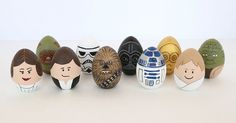 Star Wars Painted Easter Eggs DIY - feel the force to get crafty #ArtsAndCrafts, #Easter, #Fun, #StarWars, #WoodenToys