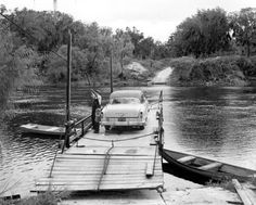 Cable ferry at Old Town - Dixie County, Florida.