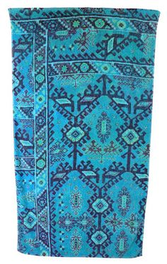 Aztec Beach Towel in Blue design by Fresco Towels