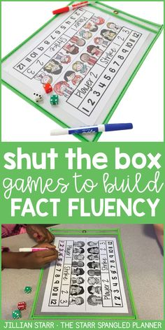 Shut The Box- Build Math Fact Fluency Freebie! Shut The Box is one of the BEST CENTER GAMES EVER! It's a fun and engaging activity to help build math fact fluency and master addition facts. Check out the variety of ways to play (partner games, independent Fluency Activities, Math Fact Fluency, Manipulation, Eureka Math, 2 Kind, Math Intervention, Second Grade Math, Grade 2, Addition Facts