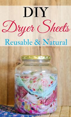 DIY Dryer Sheets - Reusable and Natural Homemade Laundry Products These DIY dryer sheets are simple, natural, and safe for sensitive skin. Ditch the store-bought dryer sheets for good! I've been wanting to make my own. Homemade Cleaning Products, House Cleaning Tips, Natural Cleaning Products, Cleaning Hacks, Diy Hacks, Natural Products, Household Products, Natural Cleaning Recipes, Diy Cleaning Cloths