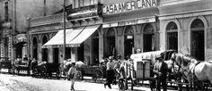 Carroças na Rua do Riachuelo, em 1916