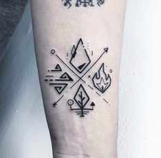 ✖️Four element✖️. Done in London N. # Tatoo # Picture # Ah … – Tattoo Drawings Forearm Tattoos, Arm Band Tattoo, Body Art Tattoos, Tattoo Drawings, Sleeve Tattoos, Tatoos, Element Tattoo, Norse Tattoo, Viking Tattoos