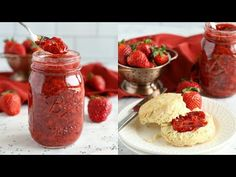 This Easy 3-Ingredient Chia Seed Strawberry Jam is the perfect healthy alternative to conventional jam! It's made with 3 healthy, natural, whole-food ingredients and it's quick and easy to make!