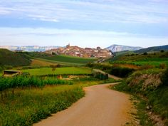 The Camino de Santiago: Approaching a typical Camino town.  The church is always the tallest building in town.