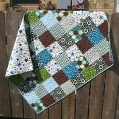 All Star Boy quilt. would be cute with some minky material added into the mix