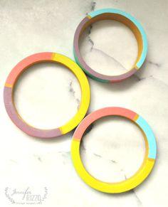 Paint fun bangle bracelets