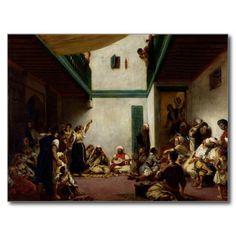A Jewish wedding in Morocco, 1841 Postcard