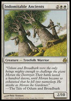 MOR: Indomitable Ancients, Creature - Treefolk Warrior 2WW 2/10