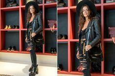 Ohlaleando: mirá lo que se puso Mónica Antonópulos  Emilia Attias fue otra de las invitadas de Prüne: ella eligió un look en negro con detalles rockeros.  /Urban