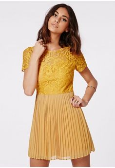 Pleated Skater Dress - Misguided