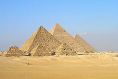 Pyramids in Giza, Egypt Egypt Map, Giza Egypt, Pyramids Egypt, Famous Landmarks, Famous Places, Monuments, Great Places, Places To See, Travel Around The World